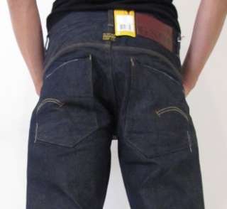 Star Jeans New Radar Tapered 3D Raw Crate Denim Designer Blue Men