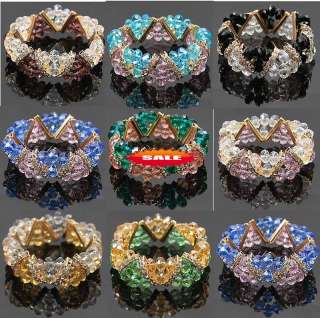 wholesale 16x crystal rhinestone gold plating bracelets