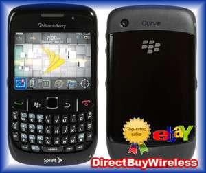 SPRINT BLACKBERRY CURVE 8530 BLACK CLEAN ESN CDMA PHONE DEMO UNIT