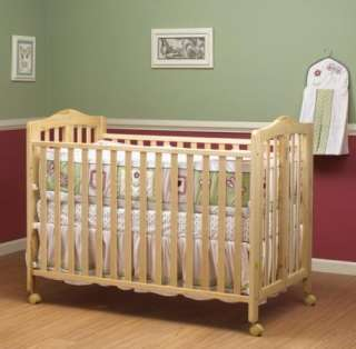 New Orbelle Lisa 2 Level Full Size Folding Baby Crib w/ Casters