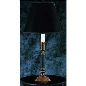 Classic Brass & Black Candle Table Lamp Home Improvement