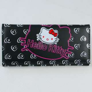 Girls Long Wallet Clutch Card Bag Purse Birthday Gift Black