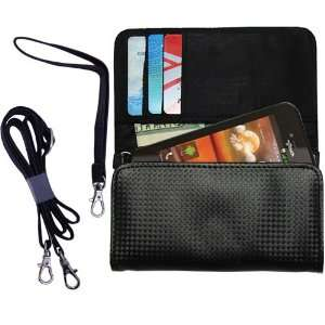Black Purse Hand Bag Case for the LG Maxx QWERTY with both