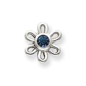 Sterling Silver Blue Topaz Flower Earrings Jewelry
