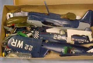 Vintage 1962 Monogram CORSAIR F4U 4 MODEL KIT Partially Built