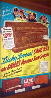 1940 LANE Cedar Hope Chest AD 3 Models Shown