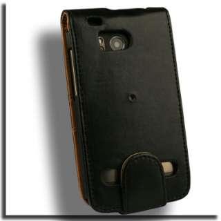 Leather Flip Case for HTC ThunderBolt Pouch Belt Clip