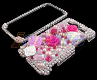 Bling Rhinestone Hard Cover Case for HTC EVO Shift 4G B