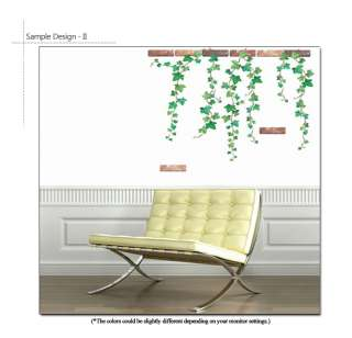 IVY VINE ★ MURAL ART DECOR WALL STICKER DECAL REMOVABLE