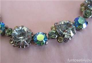 Sorrelli Blue Swarovski Crystal Bracelet NWT Blues Clear Pink