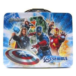 Avengers Blue Metal Boys Tin Lunch Box Toys & Games