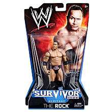 WWE Survivor Series Action Figure   The Rock   Mattel
