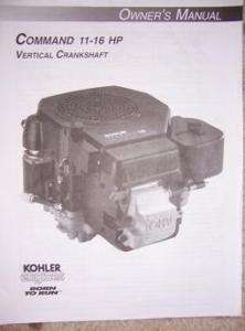 1999 Kohler Command Engine Manual 11   16 HP Vertical s