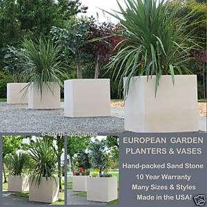 Square YARD PLANTER Outdoor Landscape Vase SAND STONE |