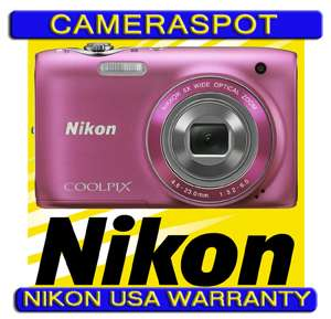 NIKON Coolpix S3100 Digital Camera 14mp PINK NEW + NIKON USA WARRANTY