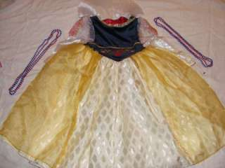 Snow White Deluxe Costume Dress Size XS 4/5
