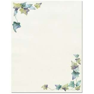 The 100 Painted Leaf Border Letterhead Sheets at