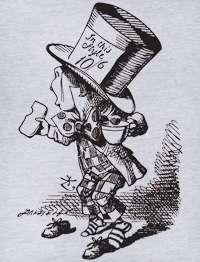 Mad Hatter Alice in Wonderland AA 2456 V Neck T Shirt