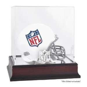 NFL Mahogany Mini Helmet Logo Display Case   Football Mini