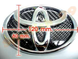 Up for sales is BRAND NEW REAL CARBON FIBER BACKING CHROMED TOYOTA
