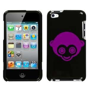 APPLE IPOD TOUCH ITOUCH 4 4TH PURPLE MONKEY ON A BLACK HARD CASE COVER