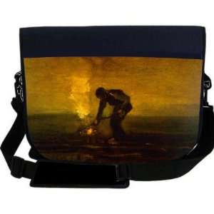 Van Gogh Art Burning Weeds NEOPRENE Laptop Sleeve Bag Messenger Bag