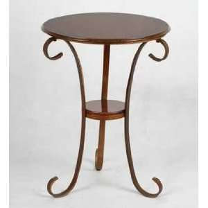 Round Metal End Table Burnt Orange Home & Kitchen