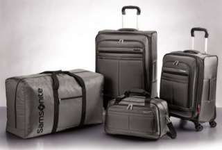 New Silver Samsonite 4 piece Spinner Suitcase Luggage Set Grey Gray
