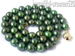 gems info nature beautiful 18 9mm green round freshwater pearl