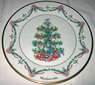 LENOX Christmas Trees Around World ENGLAND Plate Bx+COA