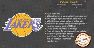 Los Angeles Lakers NBA Basketball Logos Car Bumper Window Wall Sticker