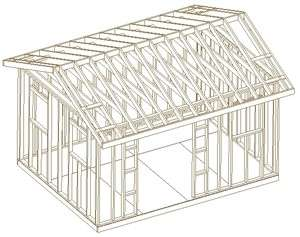 GABLE ROOF BACKYARD SHED PLANS, BUILD IT YOURSELF, HOW TO BUILD A SHED