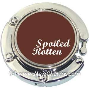Spoiled Rotten Photo Purse Hanger Handbag Table Hook