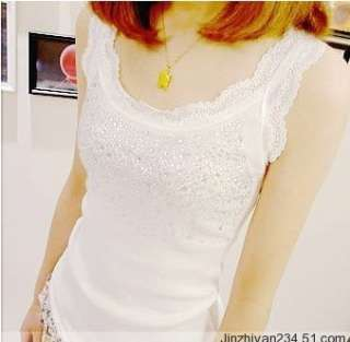 Womens Lace Straps Tanks Vests Tops Shirts 3 COLORS