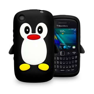 London Magic Store   Black PENGUIN Soft Silicone Case for BlackBerry