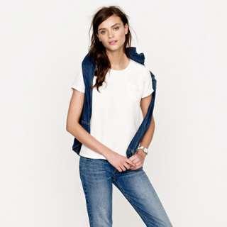 Silk crepe tee   blouses   Womens shirts & tops   J.Crew