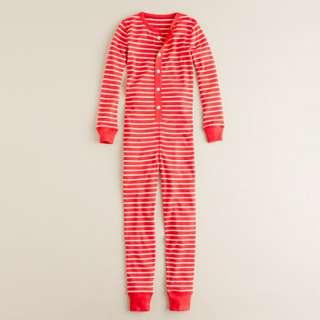Kids chalkboard stripe union suit   sleepwear   Boys Shop By