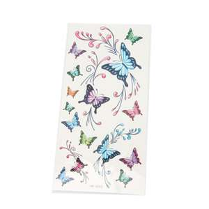 Waterproof Temporary Tattoo Sticker Beautiful Butterfly Paper
