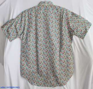 NWT POLO RALPH LAUREN MEN SHORT SLEEVE FLORAL SHIRT XXL