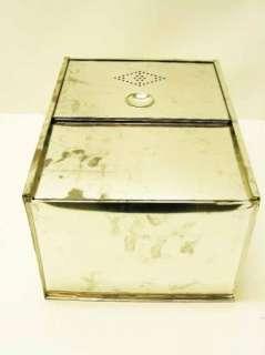 Vintage Metal Tin Kitchen Cabinet Drawer Bread Box 12 X 16 X 9 Hoosier