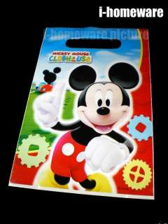 Mickey Mouse Birthday Party 6x Loot Gift Bags m372