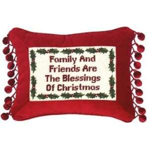 123 Creations C263.9x12 inch Family and Friends Petit Point Pillow