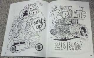 Asphalt Fiends Coloring Book Hot Rod Rat Fink ROTH type