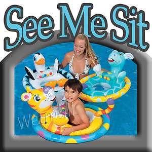 Intex See Me Sit Swimming Pool Float Riders