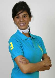 Ralph Lauren Ladies Polo Light Blue/Yellow SKINNY fit NWT