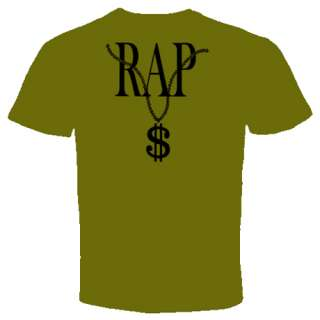 rap dollar chain t shirt Hip Hop cool funny rare humor