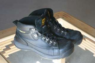 Mens CATERPILLAR Black Steel Toe Work boots Size 12M