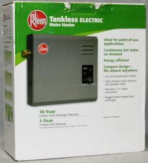 Rheem RTE 27 Electric Tankless Water Heater, 5 GPM 020352592060