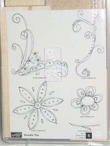 Stampin Up Rubber Stamp Set, DOODLE THIS New