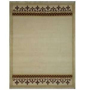 Rugs IN4407IR 6 7x9 2 Indo Nepali IN4407 Ivory Red 6 7x9 2 Tibetan Rug